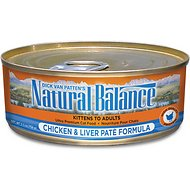 Natural Balance Ultra Premium Chicken & Liver Pate Formula Canned Cat Food, 5.5-oz, case of 24
