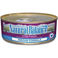 Natural Balance Ultra Premium Indoor Formula Canned Cat Food, 5.5-oz, case of 24