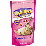 Pounce Crunchy Tuna Flavor Cat Treats, 2.1-oz bag