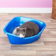 Van Ness High Side Corner Cat Litter Pan, Blue