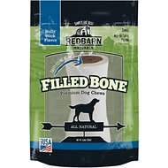 Redbarn Naturals Small Bully Stick Filled Natural Bones Dog Treat