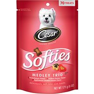 Cesar Softies Medley Dog Treats, 6-oz bag