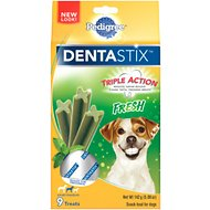 Pedigree Dentastix Small/Medium Fresh Dog Treats, 9 count
