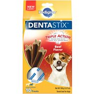 Pedigree Dentastix Small/Medium Beef Dog Treats, 10 count