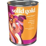 Solid Gold Star Chaser Chicken & Brown Rice Recipe with Vegetables Canned Dog Food, 13.2-oz, case of 12