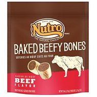 Nutro Baked Beefy Bones Dog Treats, 10-oz bag