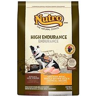 Nutro High Endurance Chicken Meal, Whole Brown Rice & Oatmeal Recipe Dry Dog Food, 30-lb bag
