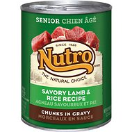 Nutro Senior Savory Lamb & Rice Recipe Chunks in Gravy Canned Dog Food, 12.5-oz, case of 12