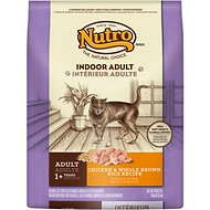 Nutro Indoor Adult Chicken & Whole Brown Rice Recipe Dry Cat Food, 14-lb bag