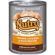 Nutro Senior Tender Chicken & Rice Recipe Canned Dog Food, 12.5-oz, case of 12