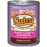 Nutro Senior Tender Turkey & Rice Recipe Canned Dog Food, 12.5-oz, case of 12