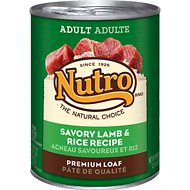 Nutro Adult Savory Lamb & Rice Recipe Canned Dog Food, 12.5-oz, case of 12