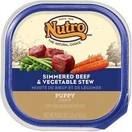 Nutro Puppy Simmered Beef & Vegetable Stew Dog Food Trays, 3.5-oz, case of 24