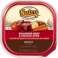 Nutro Adult Simmered Beef & Potato Stew Dog Food Trays, 3.5-oz, case of 24