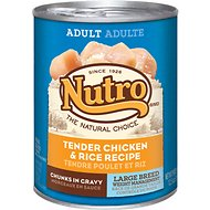 Nutro Large Breed Adult Weight Management Tender Chicken & Rice Recipe Chunks in Gravy Canned Dog Food, 12.5-oz, case of 12
