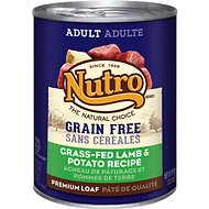 Nutro Grain-Free Adult Grass-Fed Lamb & Potato Recipe Canned Dog Food, 12.5-oz, case of 12