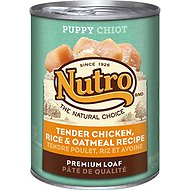 Nutro Puppy Tender Chicken, Rice & Oatmeal Recipe Canned Dog Food, 12.5-oz, case of 12