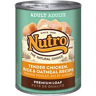 Nutro Adult Tender Chicken, Rice & Oatmeal Recipe Canned Dog Food, 12.5-oz, case of 12