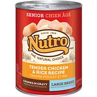 Nutro Large Breed Senior Tender Chicken & Rice Recipe Chunks in Gravy Canned Dog Food, 12.5-oz, case of 12