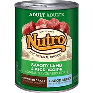 Nutro Large Breed Adult Savory Lamb & Rice Recipe Chunks in Gravy Canned Dog Food, 12.5-oz, case of 12