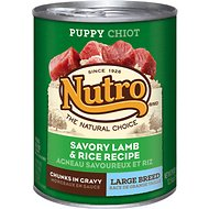 Nutro Large Breed Puppy Savory Lamb & Rice Recipe Chunks in Gravy Canned Dog Food, 12.5-oz, case of 12