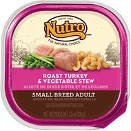 Nutro Small Breed Adult Roast Turkey & Vegetable Stew Dog Food Trays, 3.5-oz, case of 24