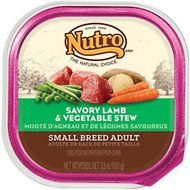 Nutro Small Breed Adult Savory Lamb & Vegetable Stew Dog Food Trays, 3.5-oz, case of 24