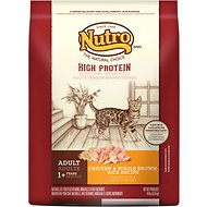 Nutro High Protein Adult Chicken & Whole Brown Rice Formula Dry Cat Food, 14-lb bag