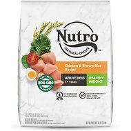 Nutro Adult Lite Chicken, Whole Brown Rice & Oatmeal Recipe Dry Dog Food, 30-lb bag