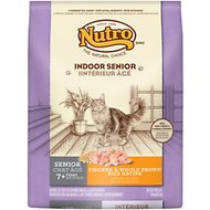 Nutro Indoor Senior Chicken & Whole Brown Rice Formula Dry Cat Food, 14-lb bag