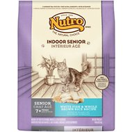 Nutro Indoor Senior White Fish & Whole Brown Rice Formula Dry Cat Food, 14-lb bag