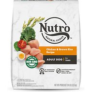 Nutro Adult Chicken, Whole Brown Rice & Oatmeal Recipe Dry Dog Food, 30-lb bag