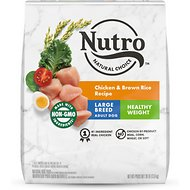 Nutro Large Breed Weight Management Adult Chicken, Whole Brown Rice & Oatmeal Recipe Dry Dog Food, 30-lb bag