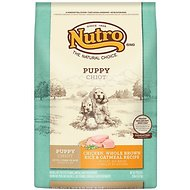 Nutro Puppy Chicken, Whole Brown Rice & Oatmeal Recipe Dry Dog Food, 30-lb bag