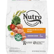 Nutro Senior Chicken, Whole Brown Rice & Oatmeal Recipe Dry Dog Food, 30-lb bag