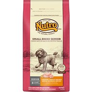 Nutro Small Breed Senior Chicken, Whole Brown Rice & Oatmeal Recipe Dry Dog Food, 8-lb bag