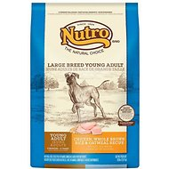 Nutro Large Breed Young Adult Chicken, Whole Brown Rice & Oatmeal Recipe Dry Dog Food, 30-lb bag