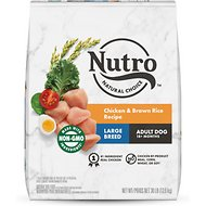 Nutro Large Breed Adult Chicken, Whole Brown Rice & Oatmeal Recipe Dry Dog Food, 30-lb bag