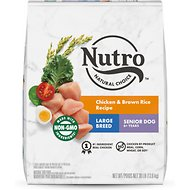 Nutro Large Breed Senior Chicken, Whole Brown Rice & Oatmeal Recipe Dry Dog Food, 30-lb bag