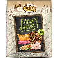 Nutro Farm's Harvest Small Breed Adult Chicken & Whole Brown Rice Recipe Dry Dog Food, 12-lb bag