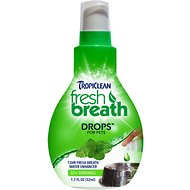 TropiClean Fresh Breath Drops, 1.7-oz bottle
