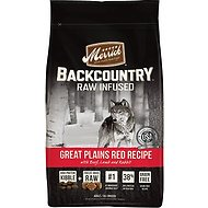 Merrick Backcountry Raw Infused Great Plains Red Recipe with Beef, Lamb & Rabbit Grain-Free Dry Dog Food, 4-lb bag