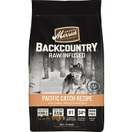 Merrick Backcountry Raw Infused Pacific Catch Recipe with Salmon, Whitefish & Trout Grain-Free Dry Dog Food, 22-lb bag