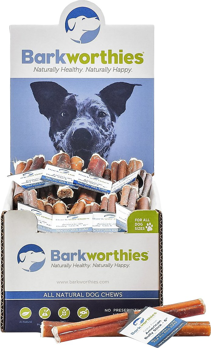 barkworthies odor free american 6 bully sticks dog treats case of 75. Black Bedroom Furniture Sets. Home Design Ideas