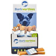 "Barkworthies Odor-Free American Double Cut 6"" Bully Sticks Dog Treats, Case of 50"