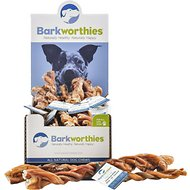 "Barkworthies Odor-Free American Twisted 12"" Bully Sticks Dog Treats, Case of 20"