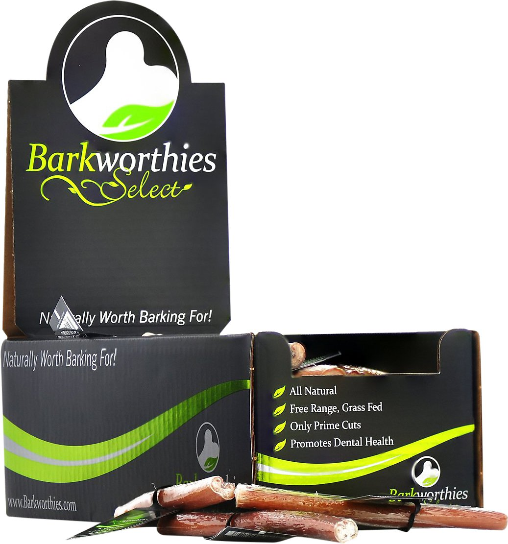barkworthies odor free select 6 bully sticks dog treats case of 75. Black Bedroom Furniture Sets. Home Design Ideas