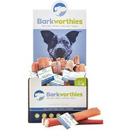 "Barkworthies Odor-Free Double Cut 6"" Bully Sticks Dog Treats, Case of 50"
