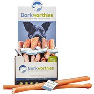 "Barkworthies Odor-Free Double Cut 12"" Bully Sticks Dog Treats, Case of 25"