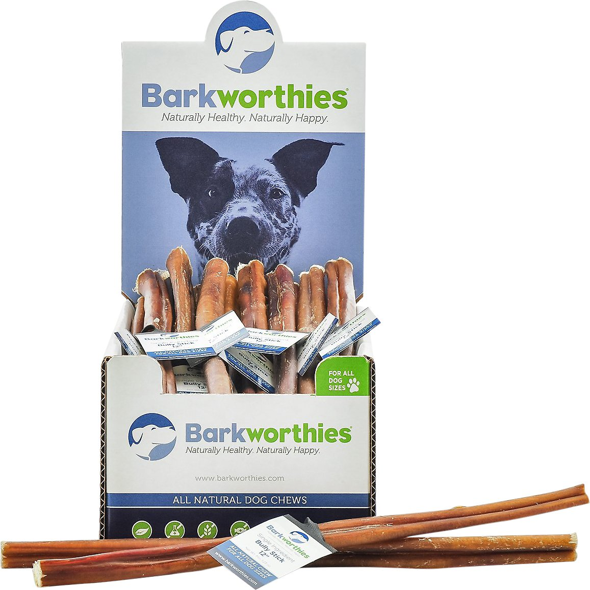 barkworthies 12 standard bully sticks dog treats case of 35. Black Bedroom Furniture Sets. Home Design Ideas
